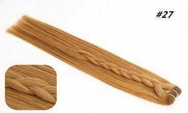 REMY Echthaar Tresse 50cm 27# -Karamel  100g